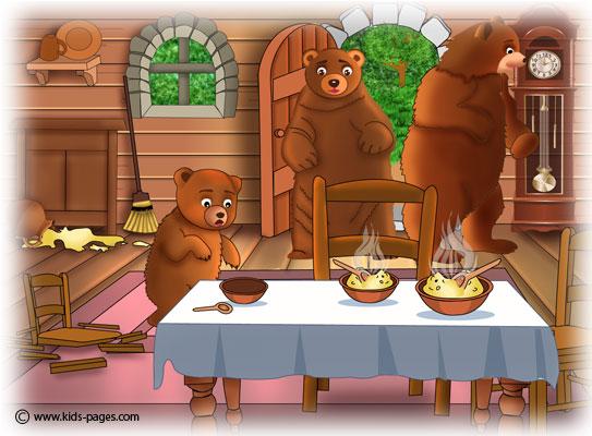 Listening And Speaking : Goldilocks And The Three Bears.