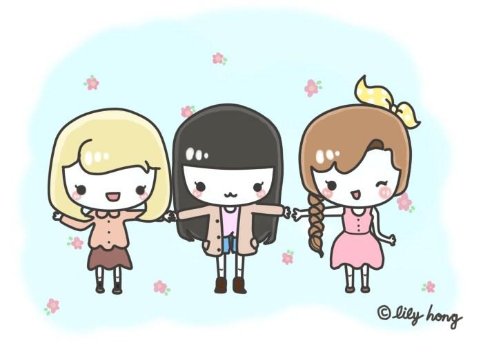 3 girl best friends clipart 6 » Clipart Portal.