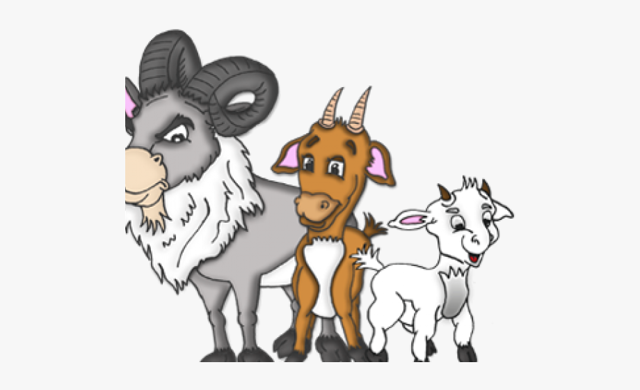 Clipart 3 Billy Goats Gruff , Transparent Cartoon, Free.