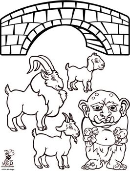 Three Billy Goats Gruff Story Time Printables.