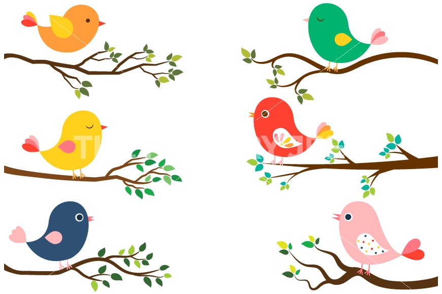 Spring birds clipart 3 » Clipart Station.