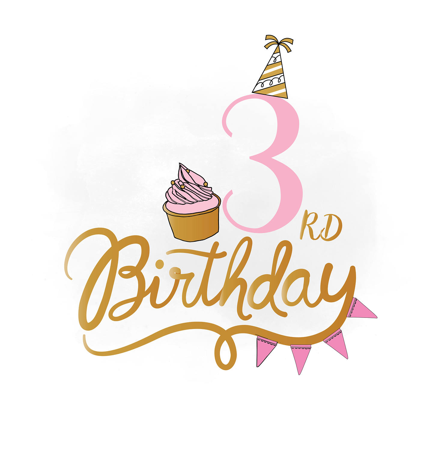 3rd Birthday Clipart.