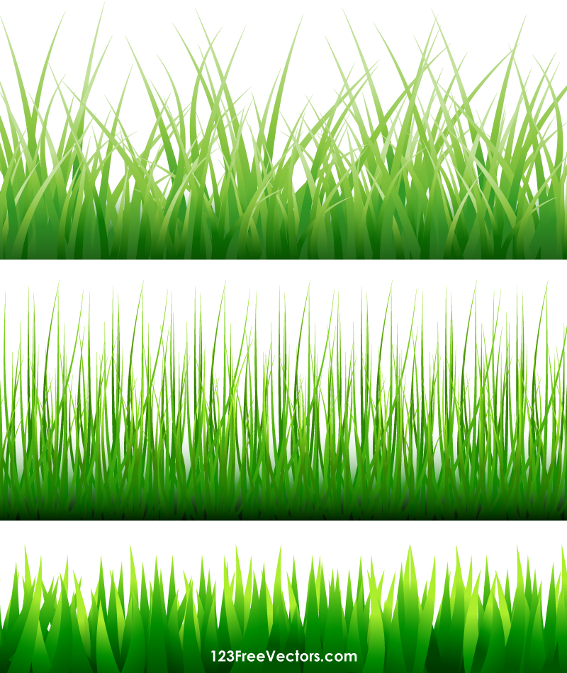 Free Vector Grass Blades.