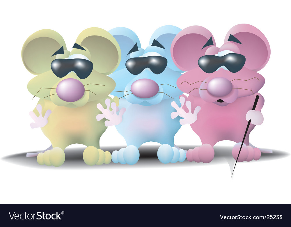Three blind mice.