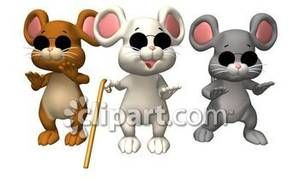 Three blind mice Clip Art Free.