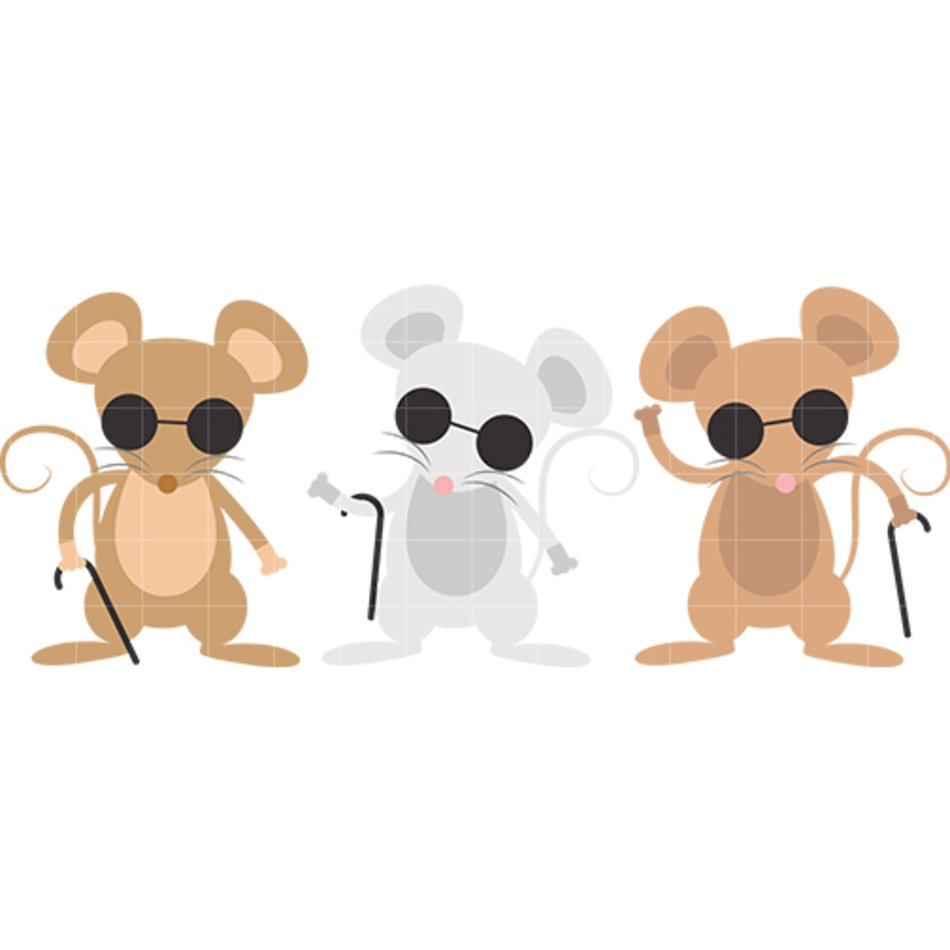 Three Blind Mice Clipart.