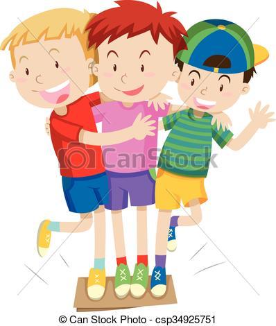 Three boys Vector Clipart Illustrations. 2,902 Three boys clip art.