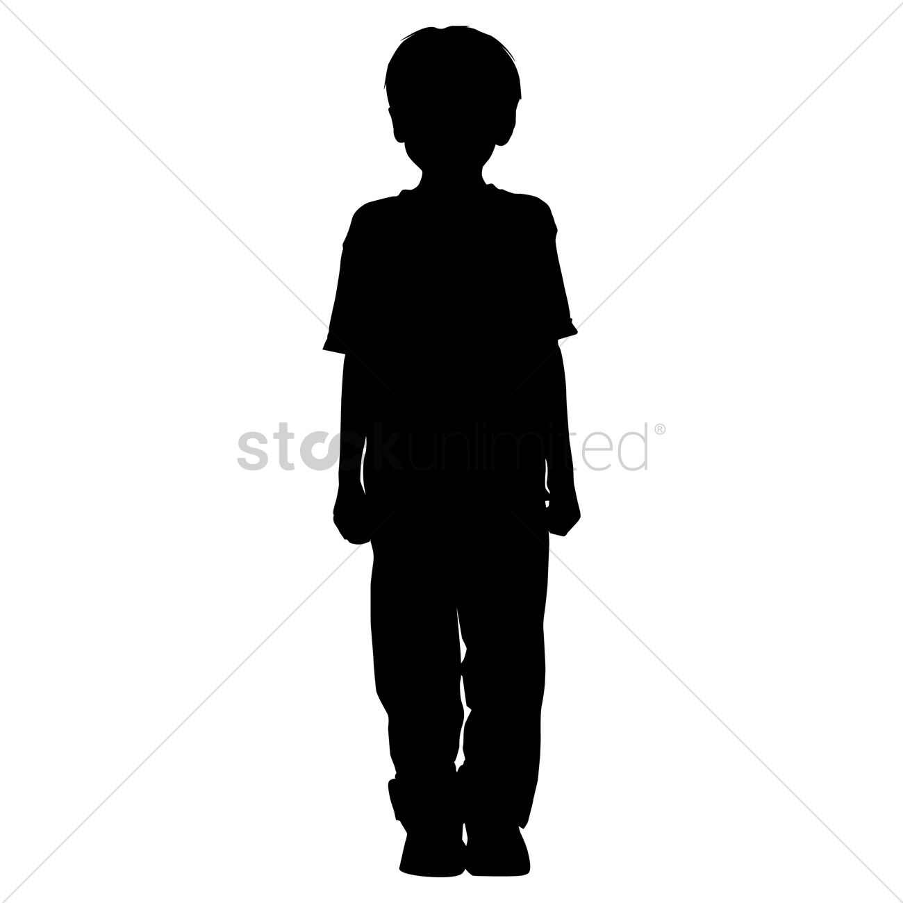 Silhouette clipart boy 3 » Clipart Station.