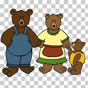 153 Three bears PNG cliparts for free download.