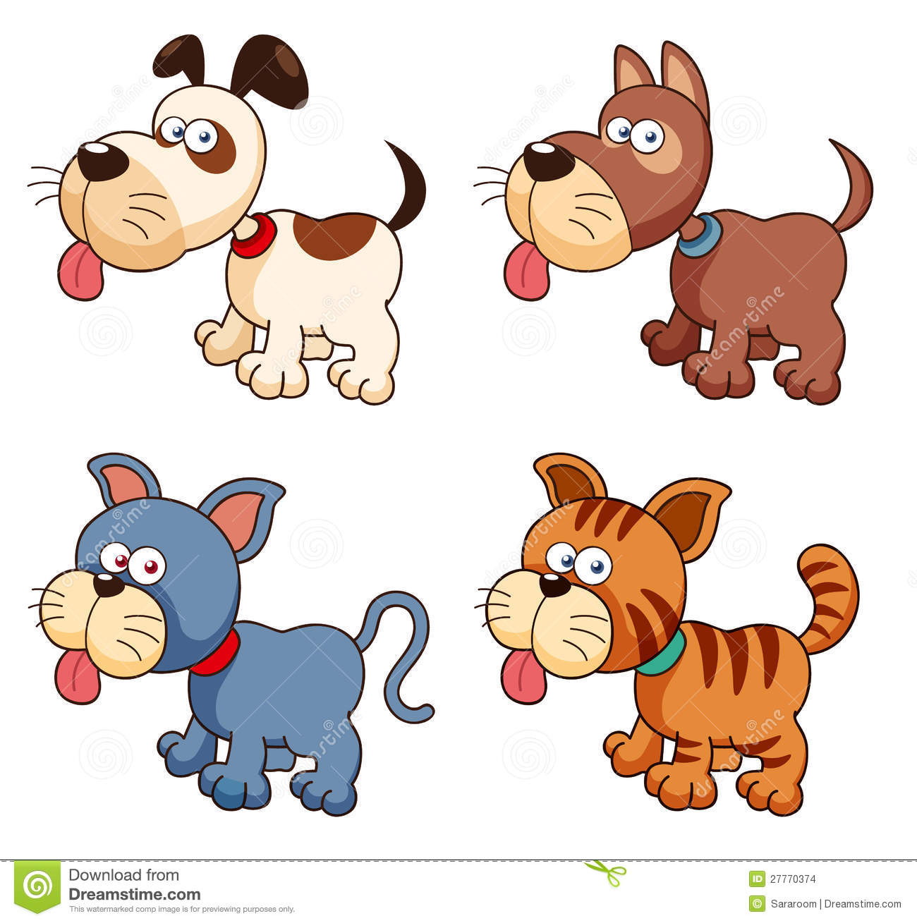 3413 Cats free clipart.