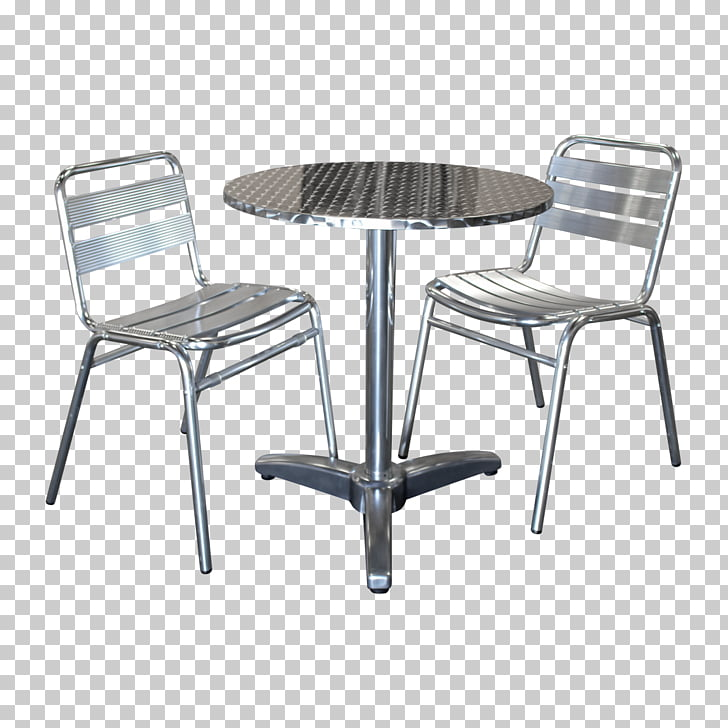 Table Bistro No. 14 chair Cafe, table, gray stainless steel.