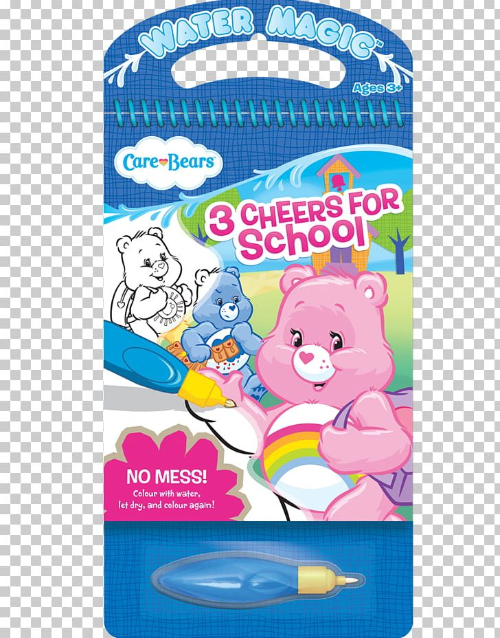 Water Magic Care Bears: 3 Cheers For School Paperback Book.