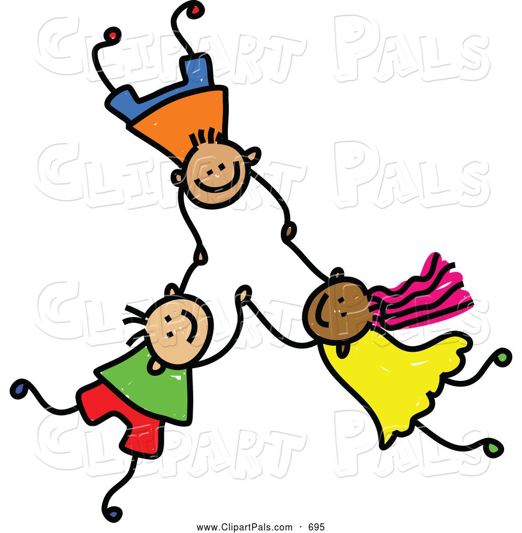 Three Kids Clipart.