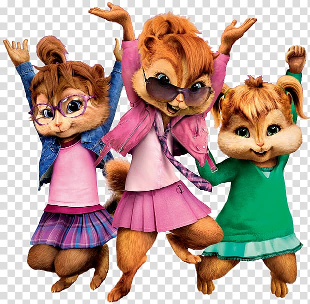 Three cartoon characters illustration, Alvin and the.