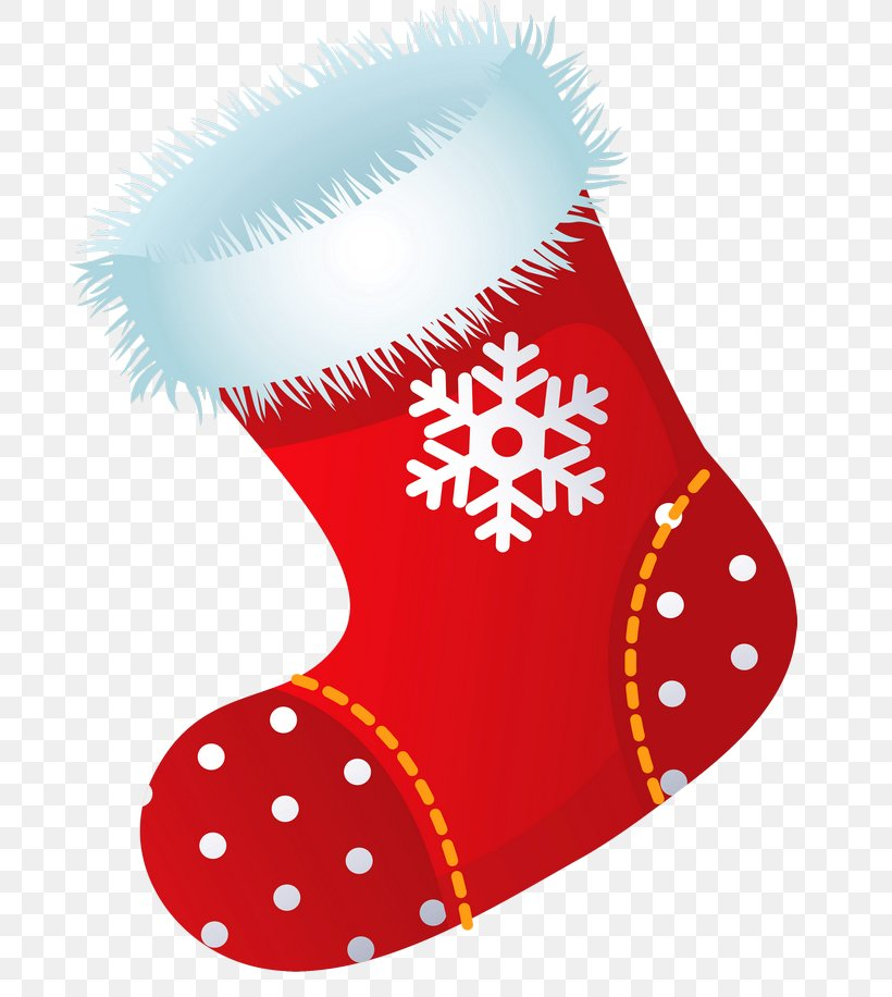 Christmas Stocking Santa Claus Clip Art, PNG, 691x916px.