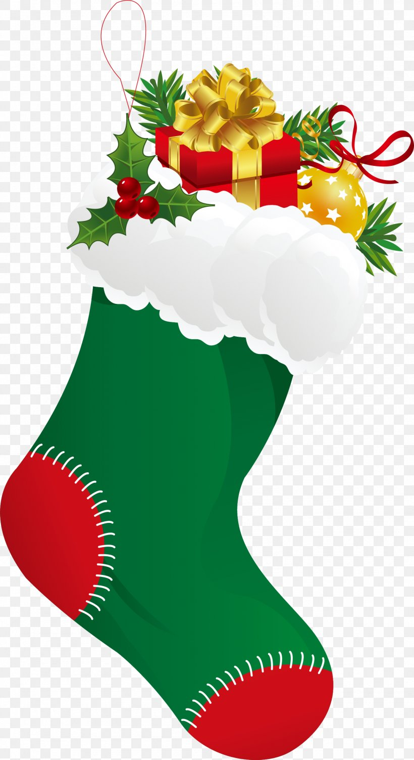 Christmas Stocking Sock Clip Art, PNG, 1489x2731px.