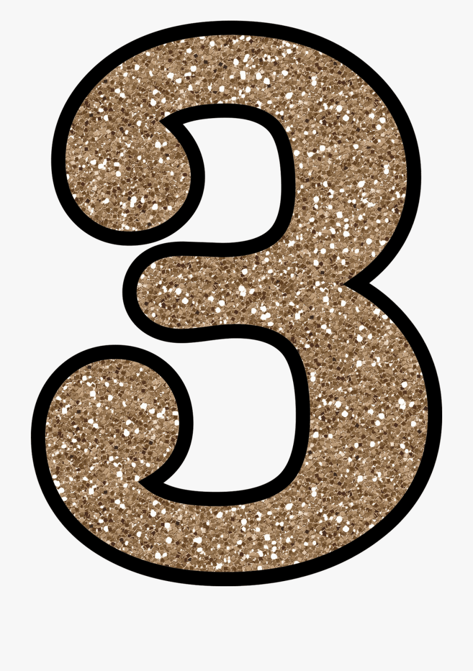 Glitter Clipart Number 3.