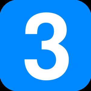 Blue Number 3 Clip Art at Clker.com.