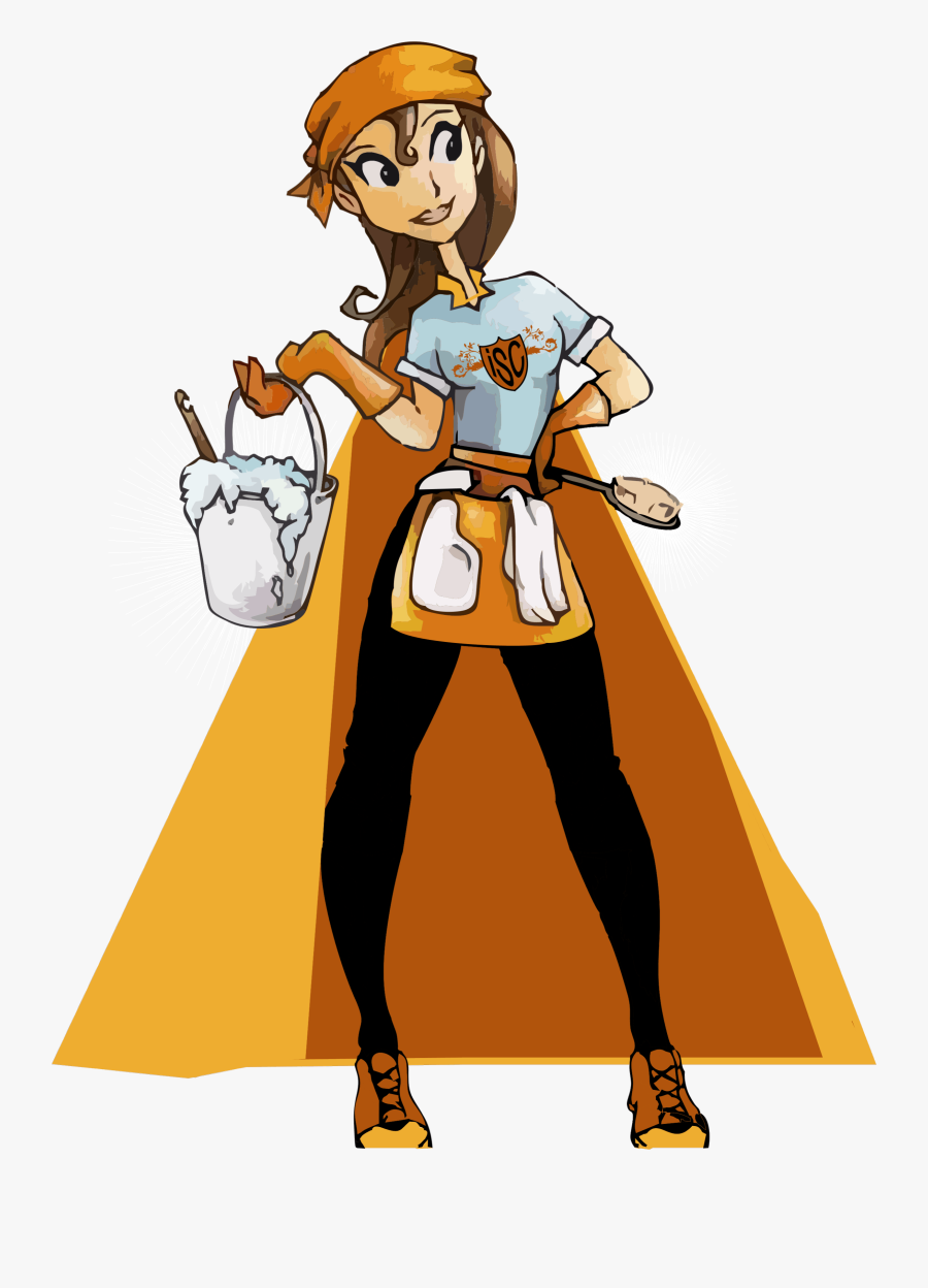 Cleaning Woman Png.