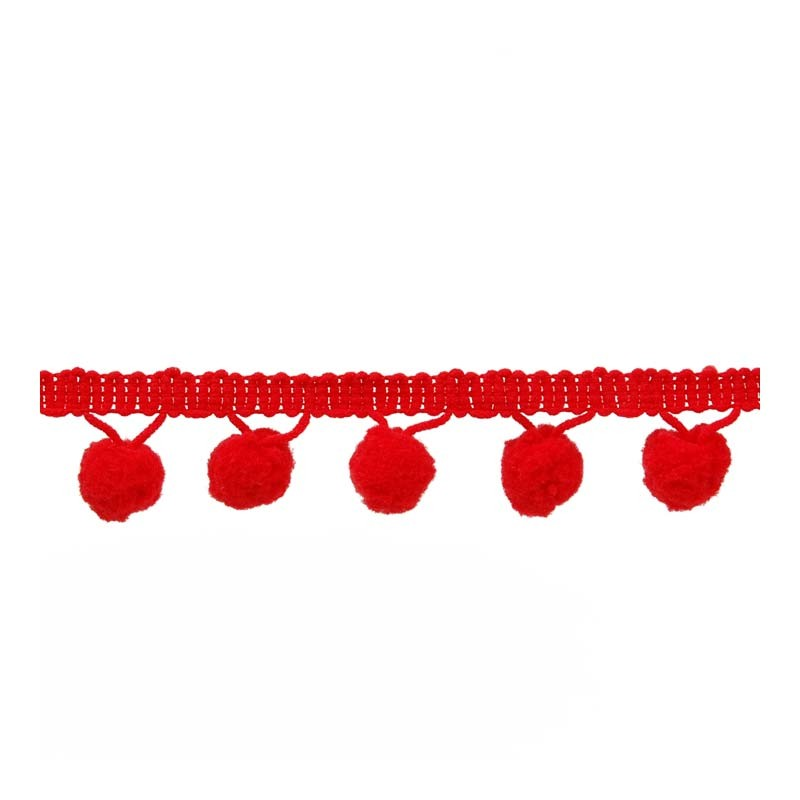 Pom Pom Trim Red 009 3cm.