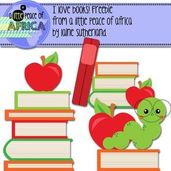 I Love Books! Clip Art Freebie.