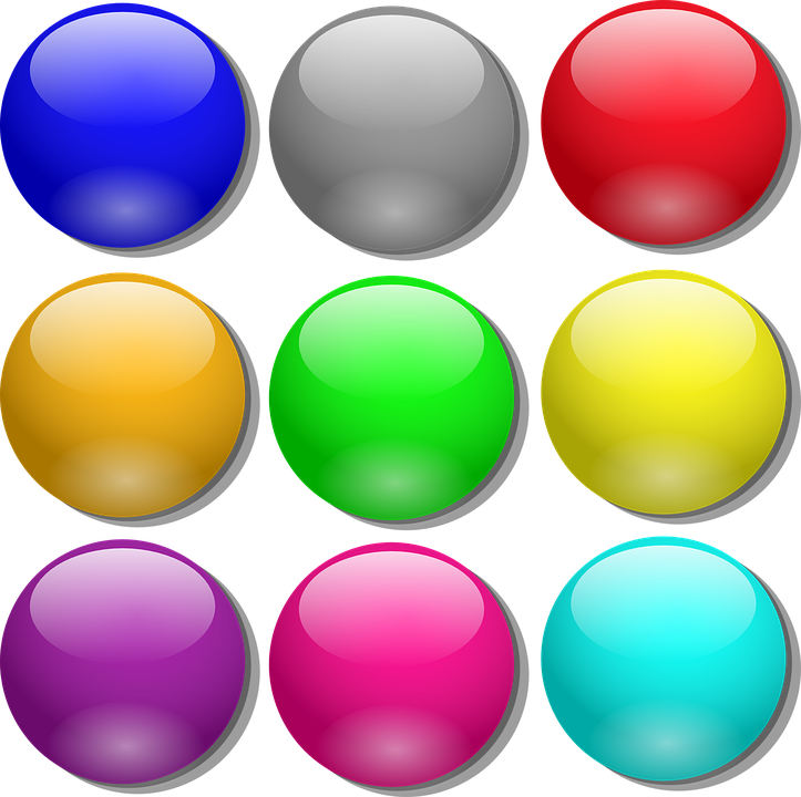 Free Vector Game Marbles Clip Art.