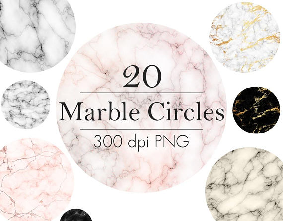 Buy 3 pay for 2, White marble circles clip art, Marble.