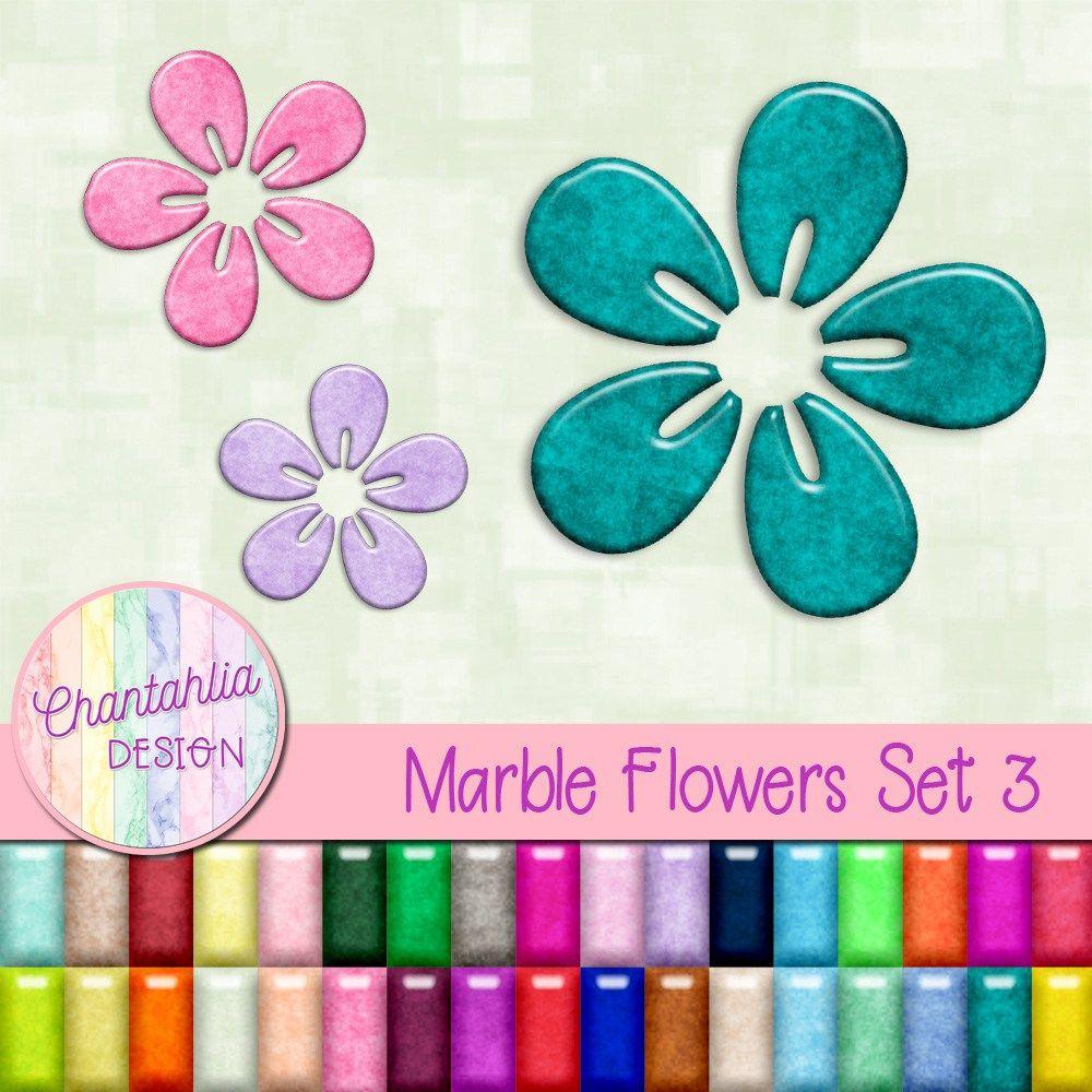 Marble Flowers Set 3.