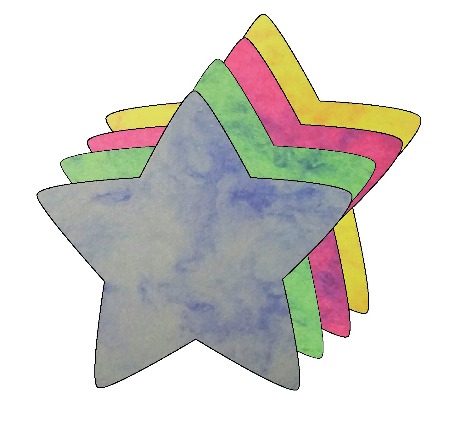 Amazon.com: Star Small Marble Assorted Color Creative Cut.