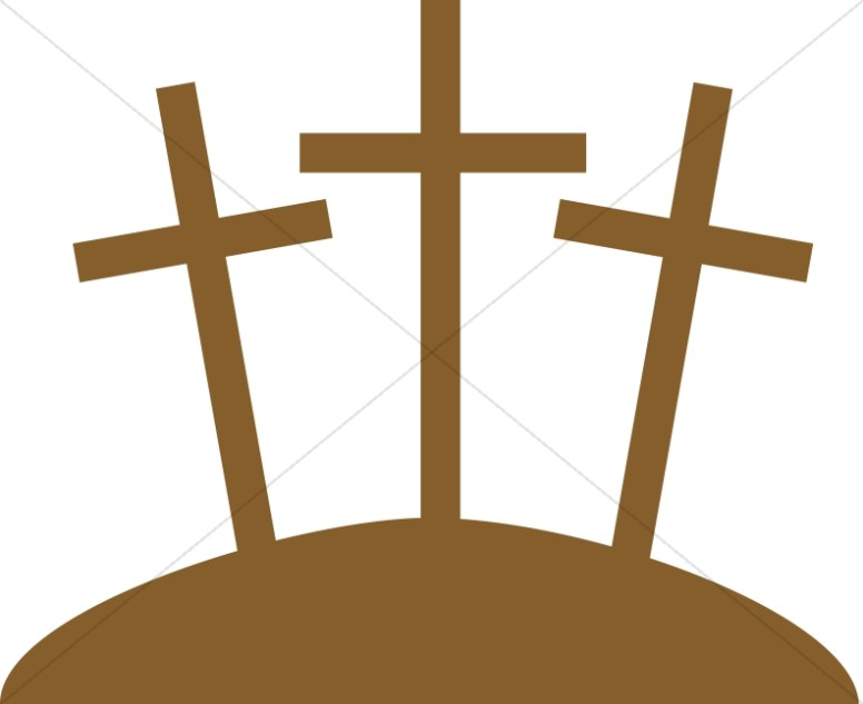 Three Crosses Graphic.