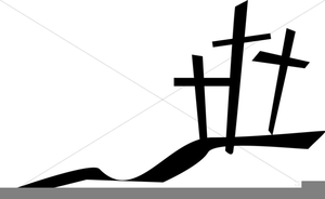 Three Crosses Clipart.