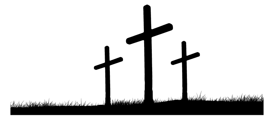 3 Crosses On A Hill Clipart #304594.