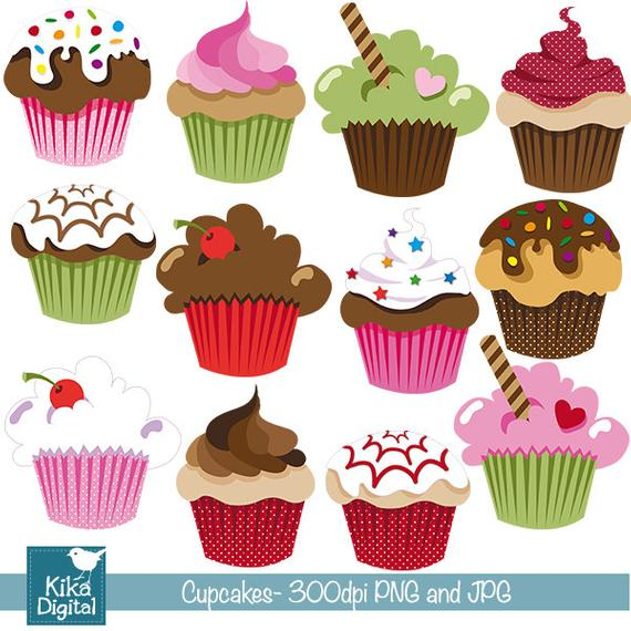 Cute cupcakes clipart 3 » Clipart Station.