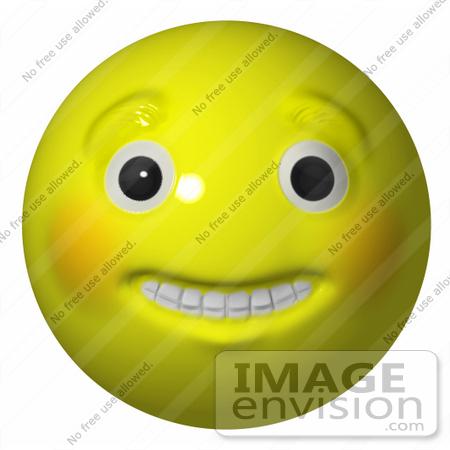 3D Smiley Face Clip Art.