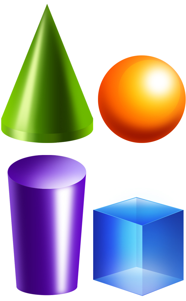 3d Shapes Clipart.