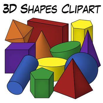 3d Shape Clipart.