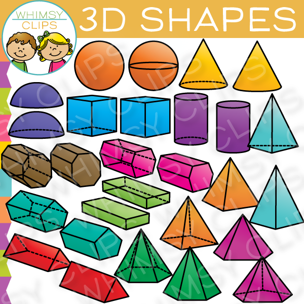 3D Shapes Clip Art.