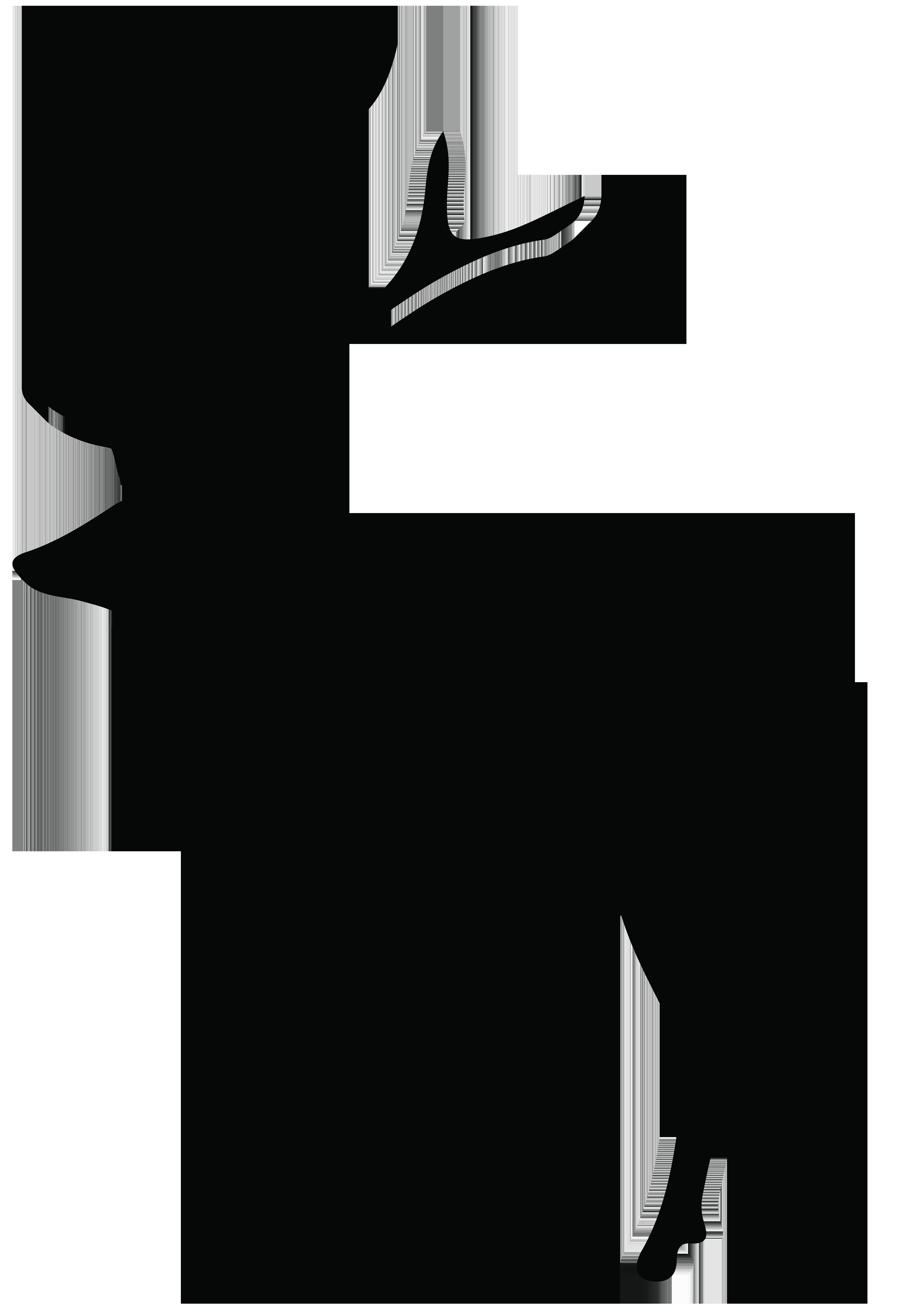 Reindeer Silhouette White.