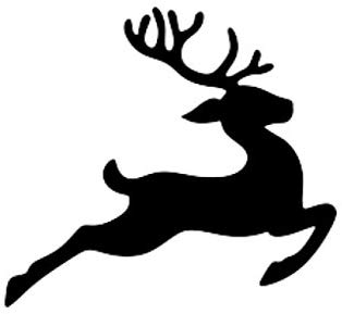 Pack of 3 Flying Reindeer Stencils, 11x14, 8x10 and 5x7 Made from 4 Ply  Matboard.