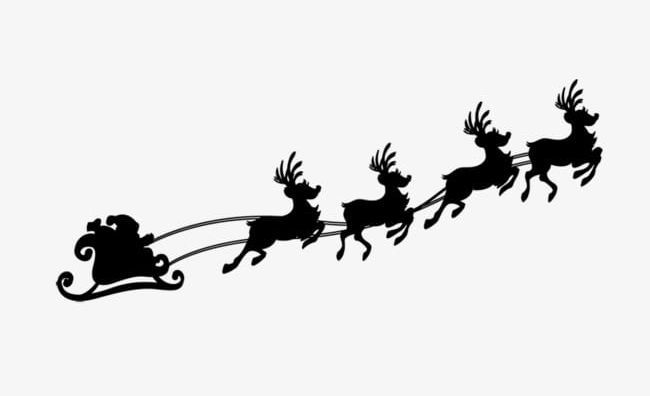 Black Flying Reindeer PNG, Clipart, Black Clipart, Christmas.