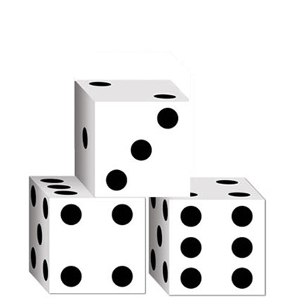 Set of 3 Small Dice Favor Boxes.