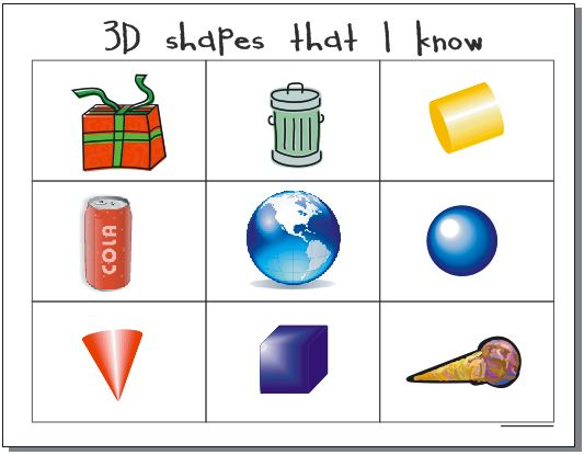 10 Activities for Describing 3D Shapes in Kindergarten.