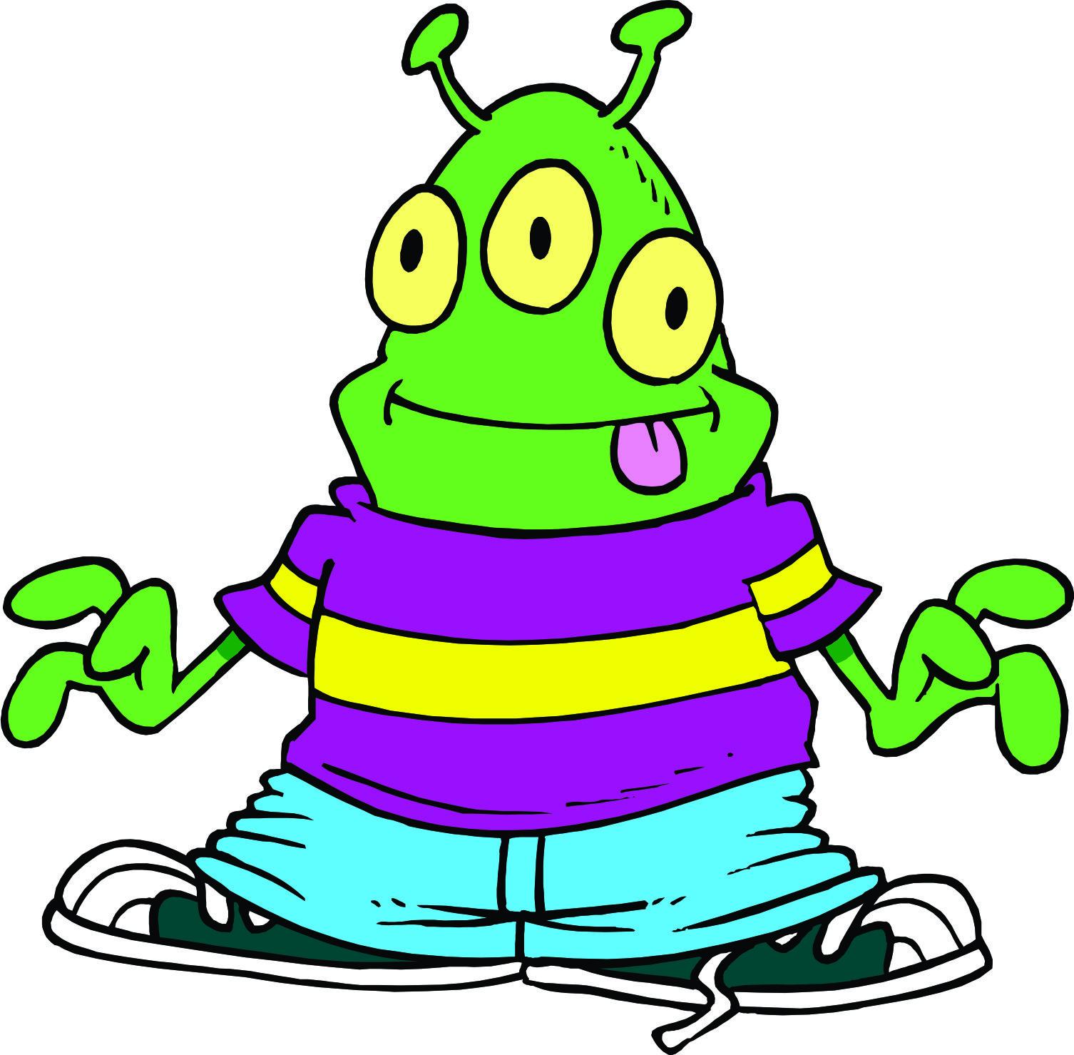 Three Eyed Alien Mascot.
