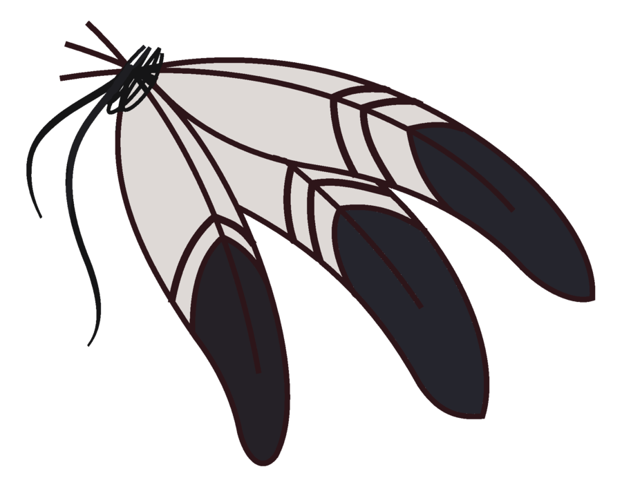 1694 Feathers free clipart.