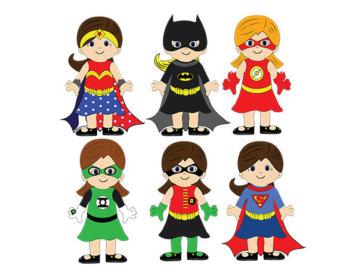 Female superhero clipart 3.