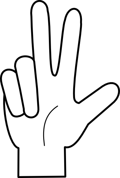 Hand Cartoon clipart.