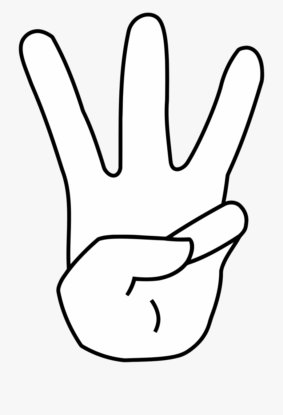 3 Fingers Clipart.