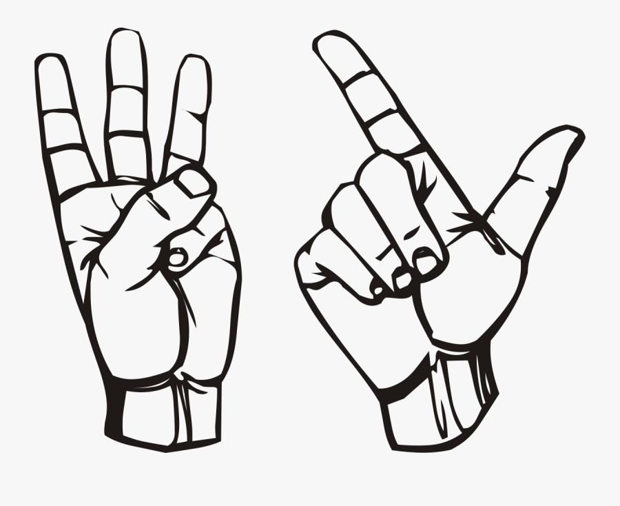 Hand Holding Up Three Fingers , Free Transparent Clipart.