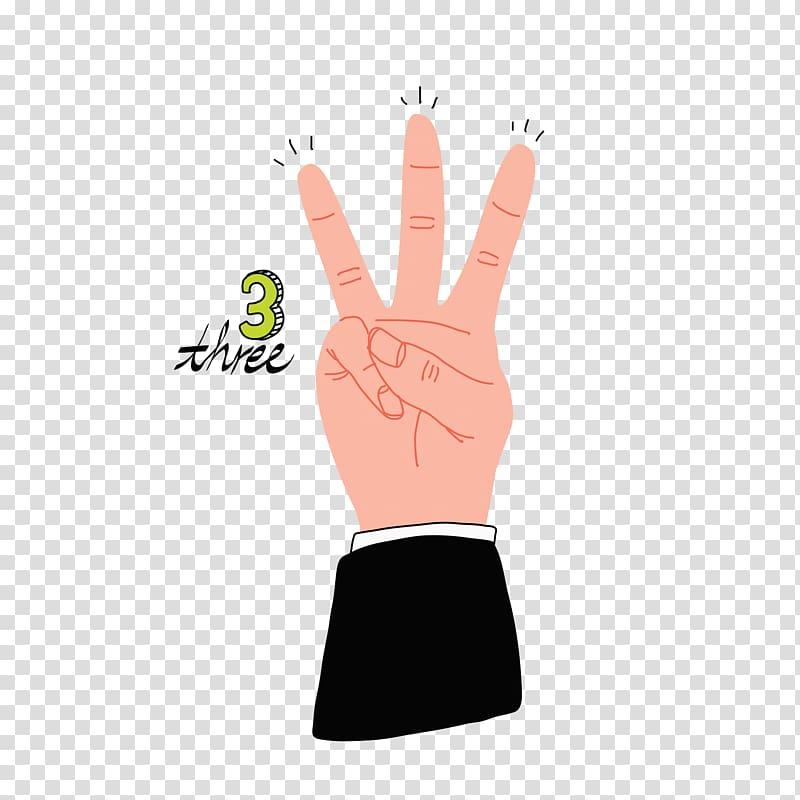 Thumb Finger Digit Hand, Three fingers transparent.