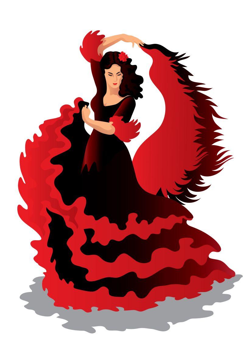 Spanish Dancer Clipart.